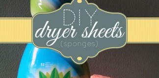 DIY Dryer Sheets with Sponges
