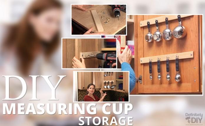 DIY Measuring Cup Storage