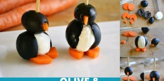 DIY Cream Cheese Olive Penguins