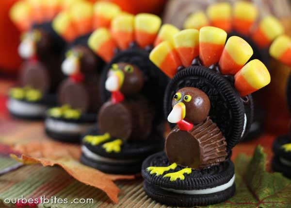 DIY Oreo Turkeys