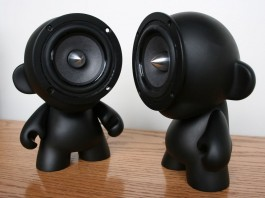 Custom Black Munny Speakers