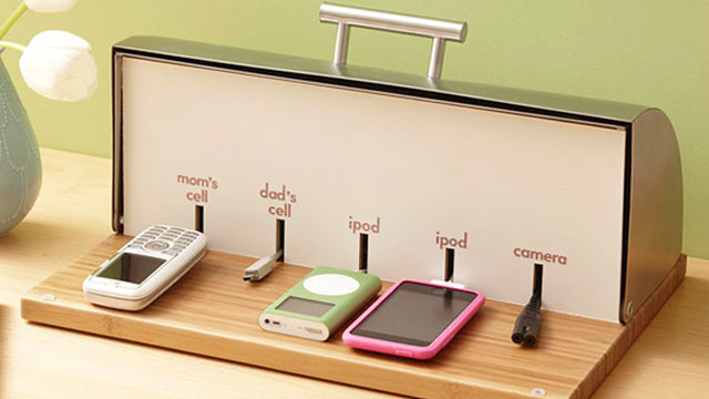 Bread Box Charging Station Definitely Diy