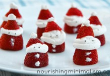 DIY strawberry santas