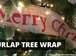 DIY Burlap Christmas Tree Wrap