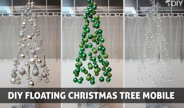 DIY Floating Christmas Tree Mobile - Definitely DIY