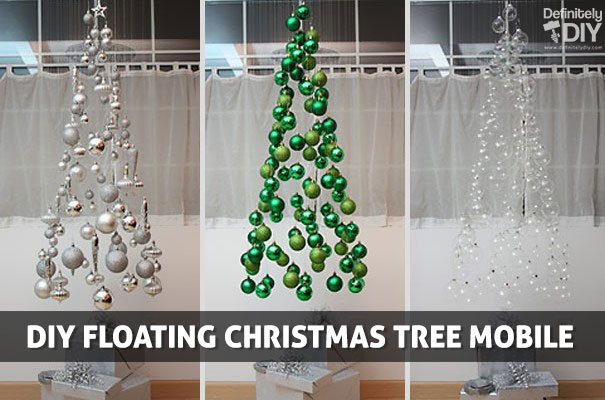 Diy Floating Christmas Tree Mobile Definitely Diy