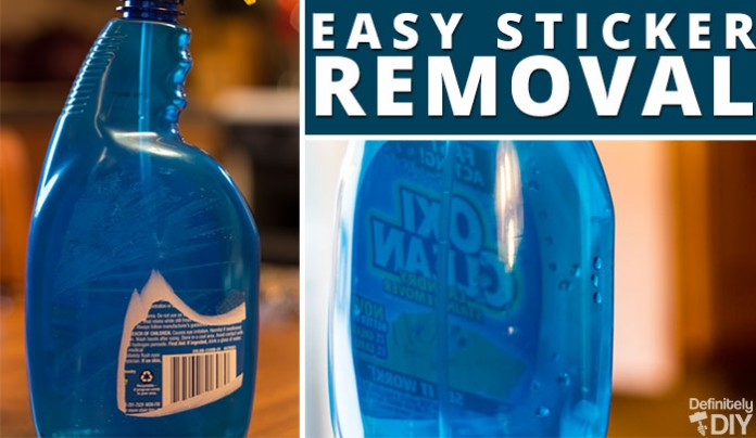 Easy Label and Sticker Removal DIY