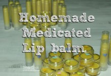 homemade medicated essential oils lip balm chap stick pots beeswax cocoa butter doterra coconut oil