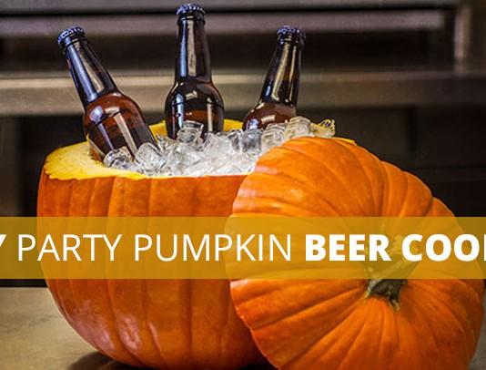 Cut pumpkin beer ice cooler