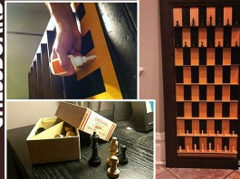 DIY Vertical Standing Chessboard