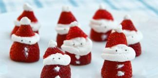 DIY strawberry santas