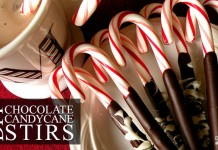 DIY Chocolate Covered Candy Cane Stirs